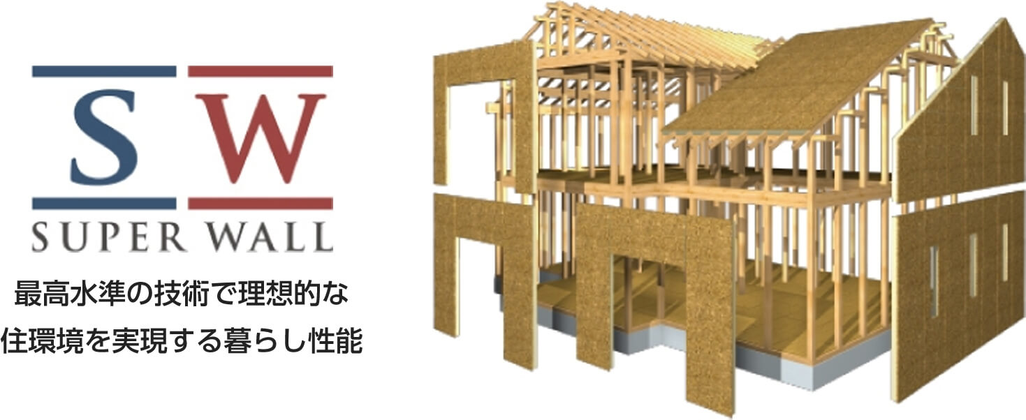 SUPER WALL 最高水準の技術で理想的な住環境を実現する暮らし性能